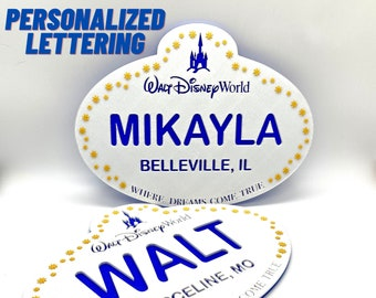 Large Personalized WDW Cast Member Name Tag Sign
