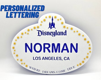 Large Personalized DL Cast Member Name Tag Sign