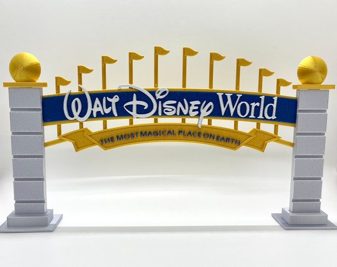 Featured listing image: Walt Disney World Resort Entrance Archway Inspired Sign