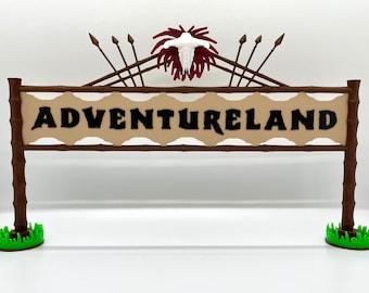 Adventureland Entrance Inspired Standup Sign