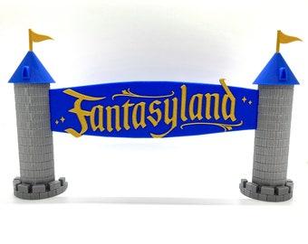 Fantasyland Entrance Inspired Standup Sign