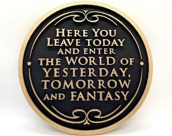 Walt Disney World Magic Kingdom Entrance Inspired Plaque