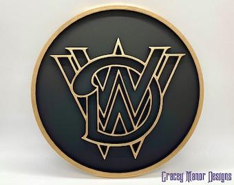 Walt Disney World Railroad Inspired Plaque (Gold and Black)