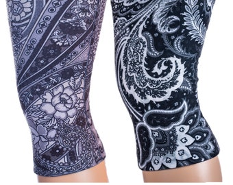1X-3X Black Paisley Fountain sizes and Queen S-XL Fast US Shipping Regular Women/'s Knee Support