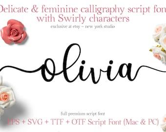 Cricut font, Silhouette cut file for cutting machines, alphabet font, individual letters, svg, dxf, eps font, swirly cricut font, AutoCAD