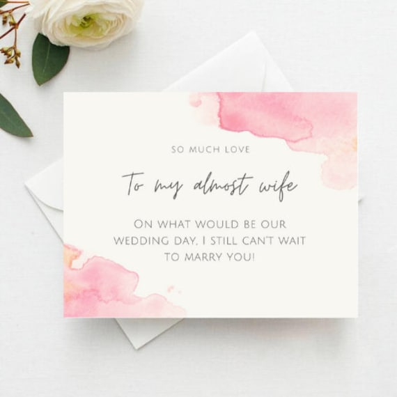To My Wife on Our Wedding Day Wedding Note Cards, To my Future wife Before I Do Cards Future Wife