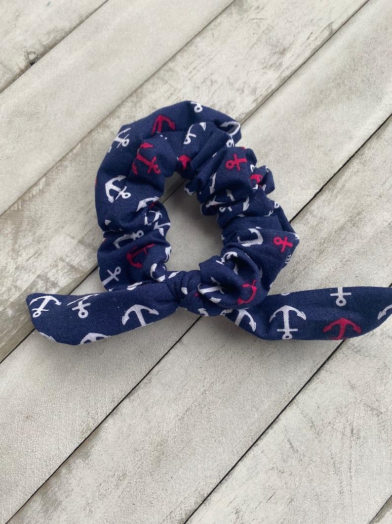 Nautical Scrunchie Summer Scrunchie