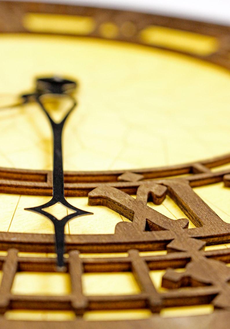 Big Ben, Horloge de Londres, Horloge en bois, Art de bois, Horloge de conception, décor de mur de conception, décor d'horloge, horloge multicouche,