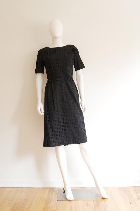 1960s Leslie Fay Original Black Dress