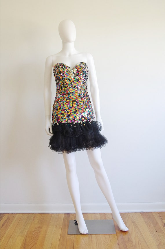 Sequin Party Time Corseted Party Dress