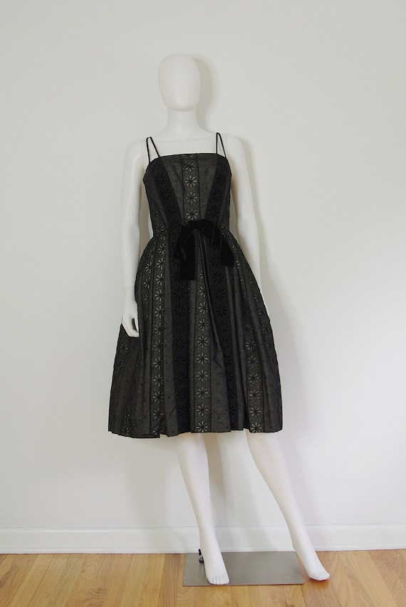 1950s Black Cocktail Dress