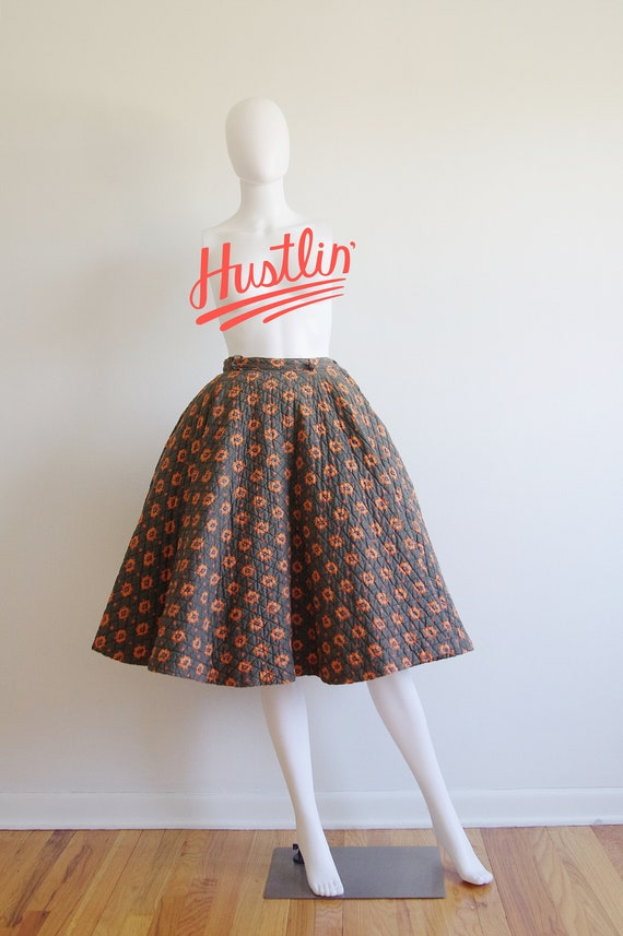 1950s Quilted Circle Skirt