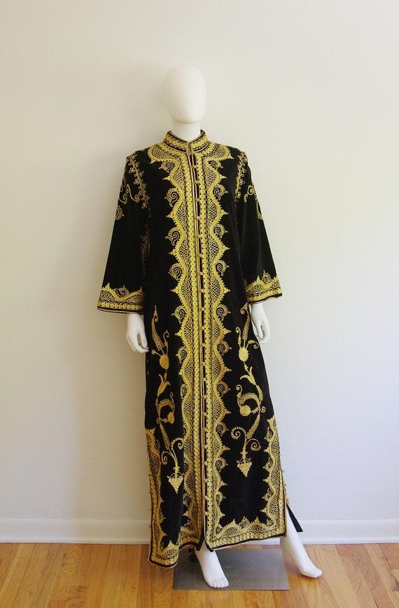 Vintage Black Velvet Robe