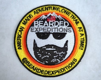 Embroidered Bearded Old Man Sew or Iron on Patch Biker Patch
