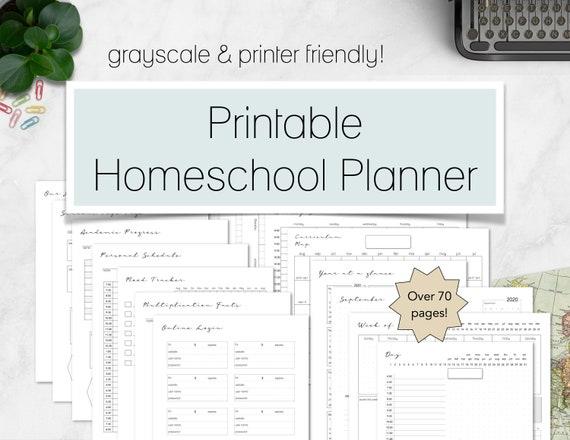 Homeschool Planner Printable Printable Homeschool Planner