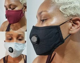 Womens mask with filter pocket and valve pm.25 filter nose wire adjustable earloops best mask for women washable and reusable mask Best Mask