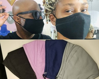 Face Mask with Nose Wire Best Face Mask Adult Youth Mask with Filter Pocket Adjustable Earloops Washable Reusable Black Grey Purple Mask