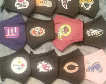 NFL Team Mask NFL Team Patches Falcons Patriots Saints Bears Colts Cowboys Seahawks Titans Broncos New York Browns Lions Panthers Steelers