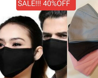 Wholesale Unisex Mask 3 Ply-Washable Reusable Face Mask Adult Unisex Mask Nose Wire Adjustable Earloops Perfect Fit Best Mask