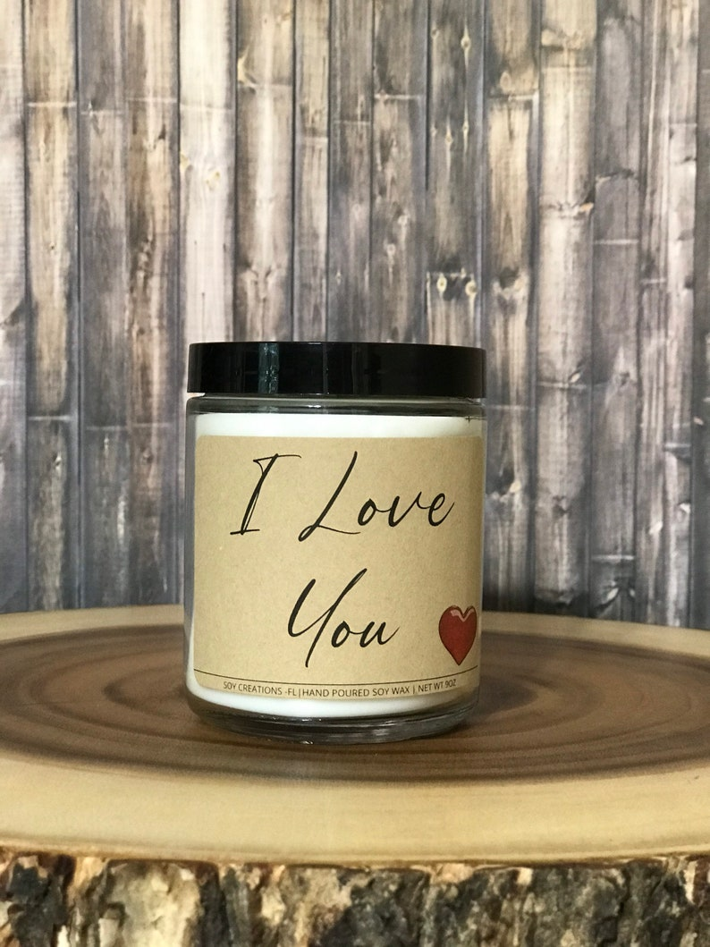 I Love You Candle Valentines Day Candle Valentines Day Gift Soy Candles Valentines Day Candle For Him Candle For Her Birthday Gift 