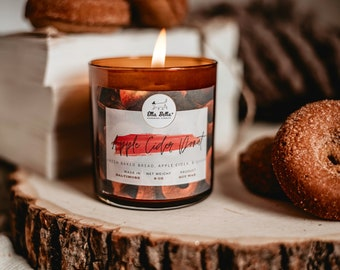Apple Cider Donut - Fall Handmade Soy Wood Wick Candle