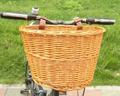 Multi-functional Rattan Bike Basket, Front Pannier Bag, Practical Durable Scooter Handlebar Storage Container