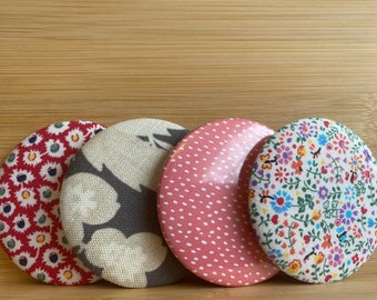 """Set of 4 Pattern 2.25"""" Pin Buttons 