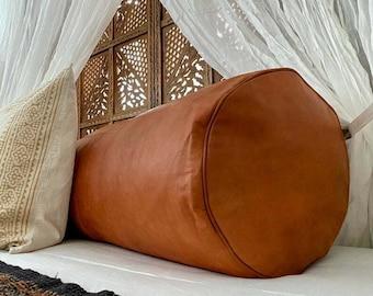 leather bolster etsy