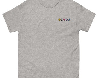 Happiness Zen Love Peace Rugby Nineties Embroidered heavyweight tee