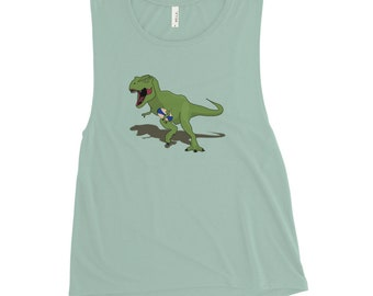 Strong Arm T Rex Rugger Ladies' Muscle Tank