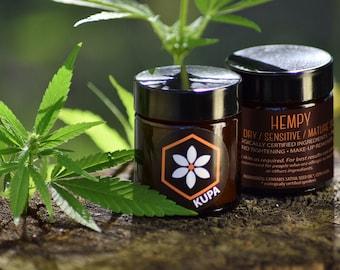 HEMPY natural face-hand cream/Hemp Seed Oil/Anti-Aging Cream/Natural Face Moisturizer/Organic Cream/Facial Cream/Redness Relief/Cruelty-Free