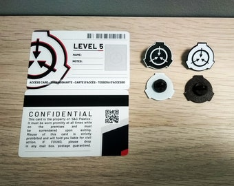SCP Foundation Pack 1.0 | 2 Secure Access Cards & SCP Logo Enamel Pin