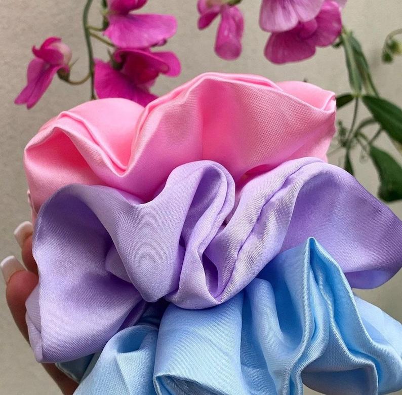 Mystery Set of Silky Satin Scrunchies