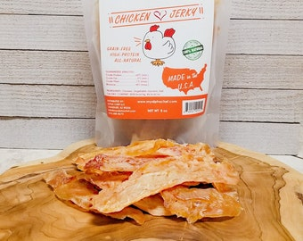 CHEWY NOT DRY Chicken Jerky Dehydrated Chicken Breast Dog Treats & Dog Chew from Alpha Chef Natural Treats