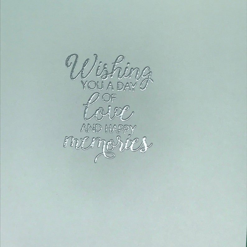 Handcrafted Wedding greeting card FREE SHIPPING Elegant embossed and Lacy