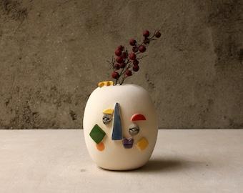 Picasso / Handmade ceramic vase / ceramic face vase / Funny Vase / sculpture