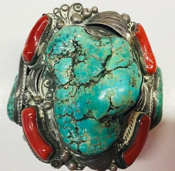Vintage Indian Chief Pawn Bracelet Navajo 1940s