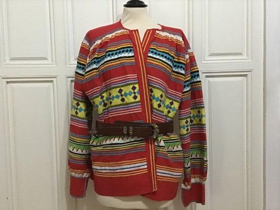 Vintage Seminole Indian Blouse handmade