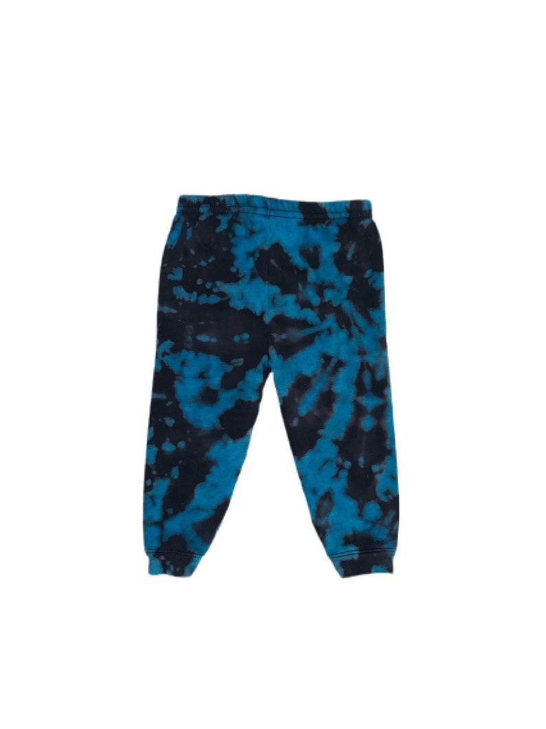 blue tie dye non-toxic dye Turquoise baby /& toddler sweatpants kids tie dye sweatpants fleece sweatpants tie dye