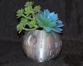 Death Star Wars Flower Succulent Pot Planter Air Plant Figure 3D Printed USA