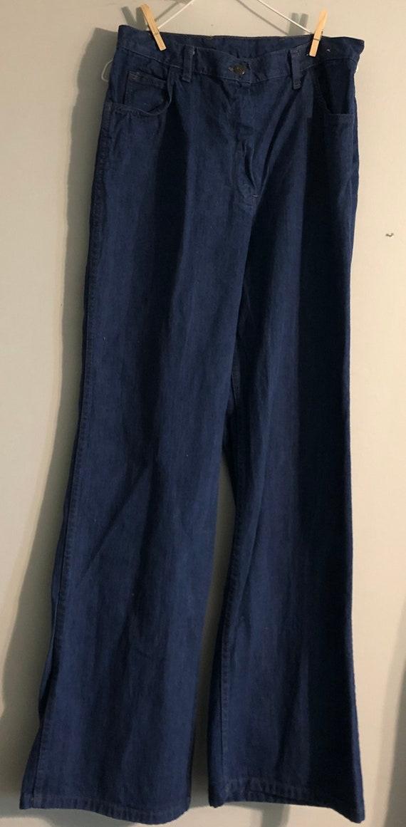 Vintage 1970's 1960's Jeans Dark Blue Bell Bottoms