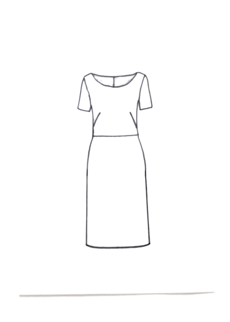 DIY for tailored women/'s dress sewing hobby shaped line short sleeves Royal model paper easy to sew create no pdf