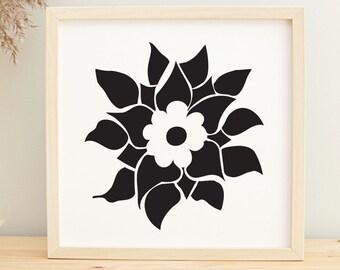 SVG Files -Rose Flower Bundle for Cricut and Sublimation Designs, Vector Hellebore Rose Clipart, Printable Instant Download Digital File