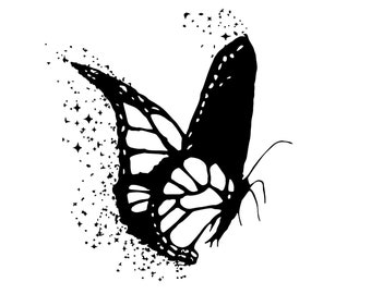 PNG Sublimation Designs Butterfly SVG Silhouette, Vector Clipart Butterfly, Craft Image, Instant Digital Download  File - Commercial License