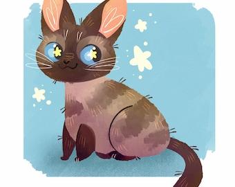 PORTRAIT FOR ONE! Digital Pet Portrait Custom, Cartoon Pet Portrait, Pet Portrait Illustration, Pet Portrait From Photo