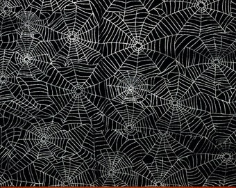 cuts continuously Black Halloween Web Fabric GAIL CG7786-100/% Cotton