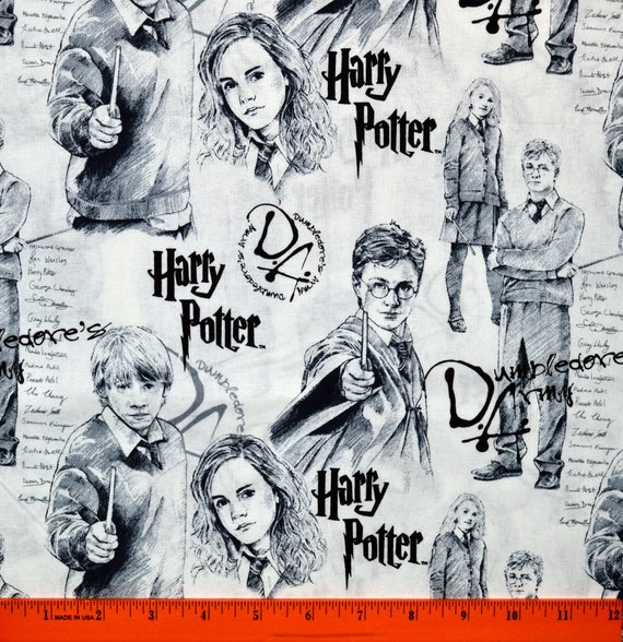 NEW Harry Potter Magic Icons Cotton Fabric sold by the yard and by the half yard