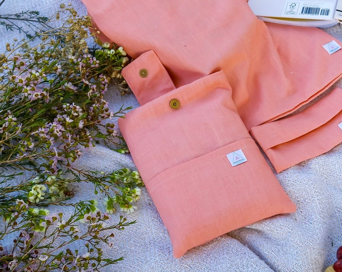 The Ella | Padded Book Sleeve | Premium Linen | Book Cover | Book Pouch | Book Protector
