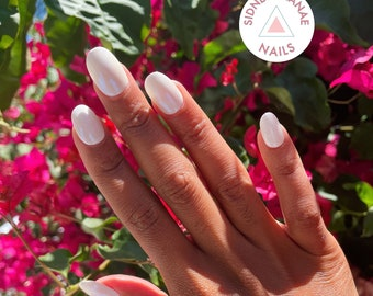 Gemini Pearl   Stone Collection   Press on Nails   False Nails   Matte or Glossy