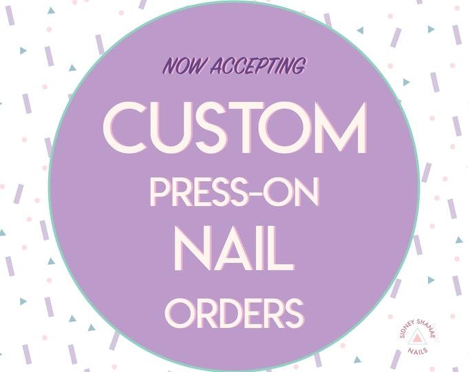 Custom Nails | Press on Nails | False Nails | Matte or Glossy